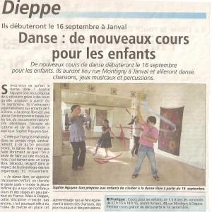 article Infos Dieppoises du 6/09/2011