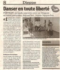 article paru dans Paris Normandie du 5 10 2011